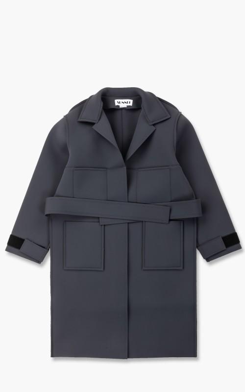 Sunnei Neoprene Trench Coat Grey