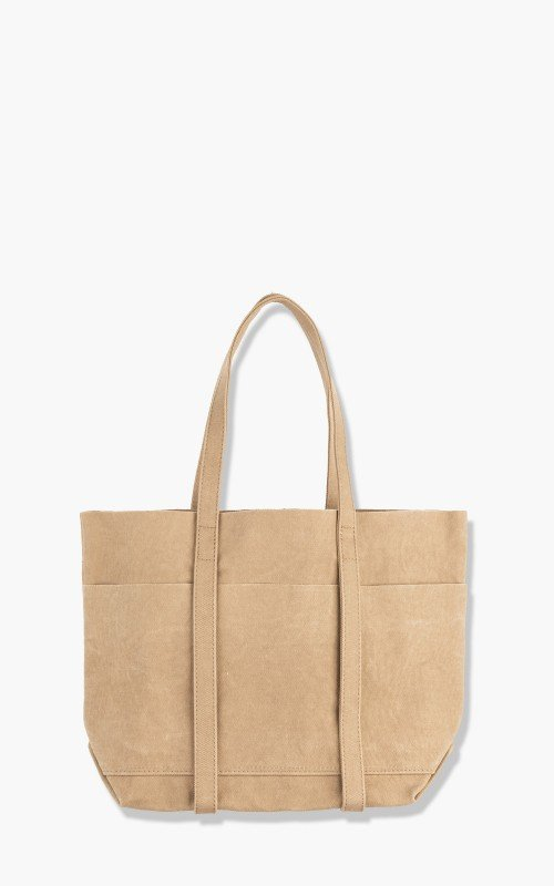 Amiacalva Washed A126 Canvas 6P Tote Bag S Beige