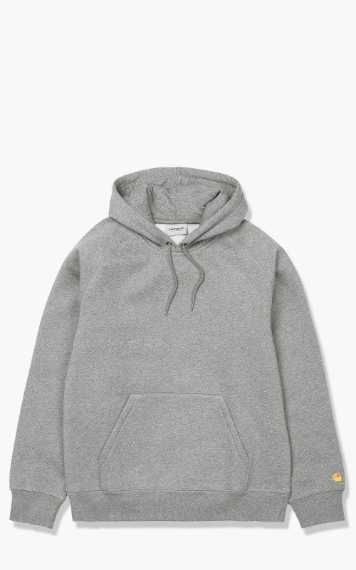 Carhartt WIP Hooded Chase Sweatshirt Grey Heather/Gold
