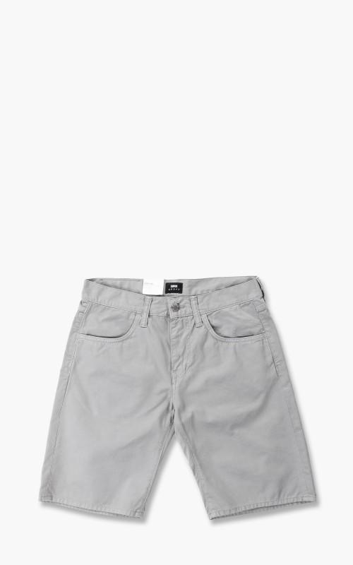 Edwin 55 PFD Bermuda Light Cotton Twill Shorts Frost Grey