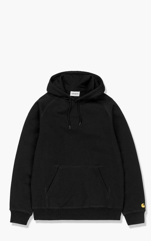 Carhartt WIP Hooded Chase Sweatshirt Black/Gold