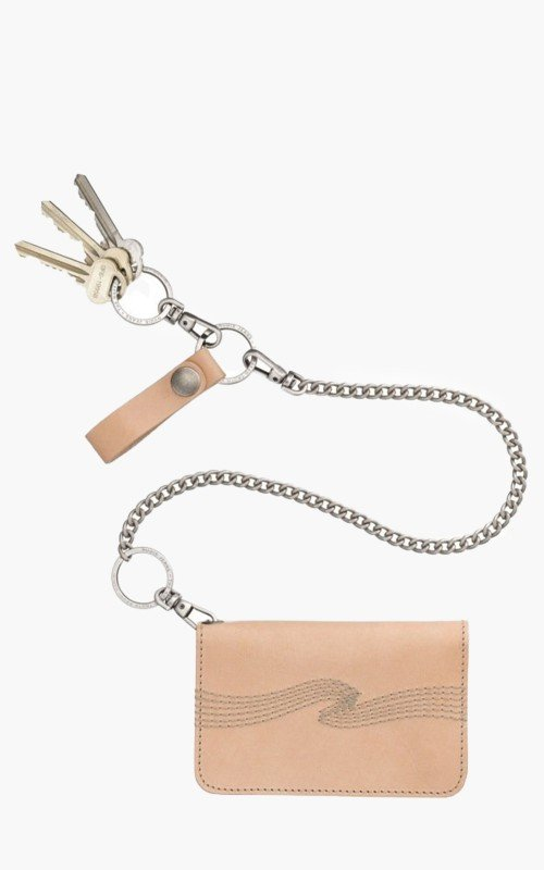 Nudie Jeans Alfredsson Chain Wallet Natural