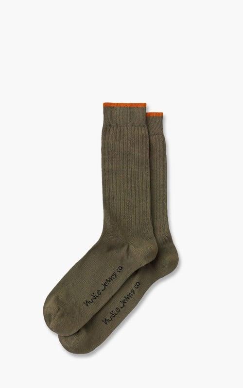 Nudie Jeans Gunnarsson Socks Olive
