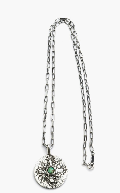 North Works N-208A Necklace 925 Silver Quarter Dollar Coin
