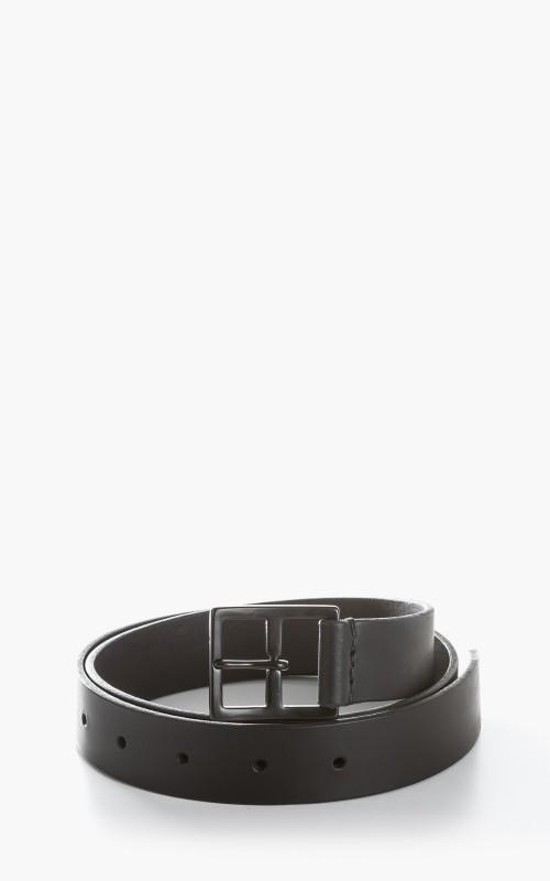 Margaret Howell MHL. Military Belt Pull Up Leather Black