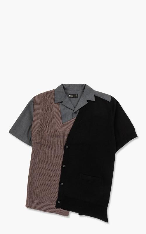 Kolor 21SCM-N04302B Block Shirt B-Dark Brown