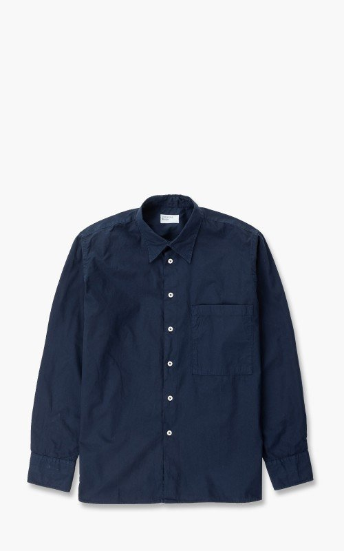 Universal Works Big Pocket Shirt Poplin Navy