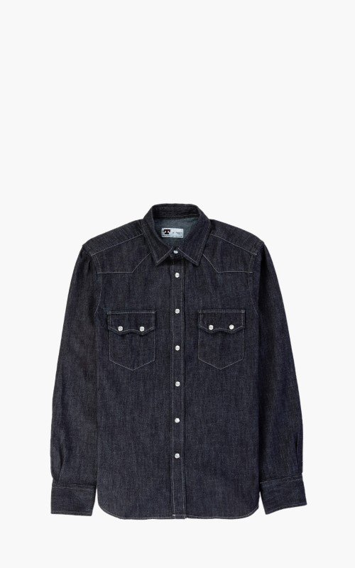 Tellason Cowboy Shirt Dry Indigo