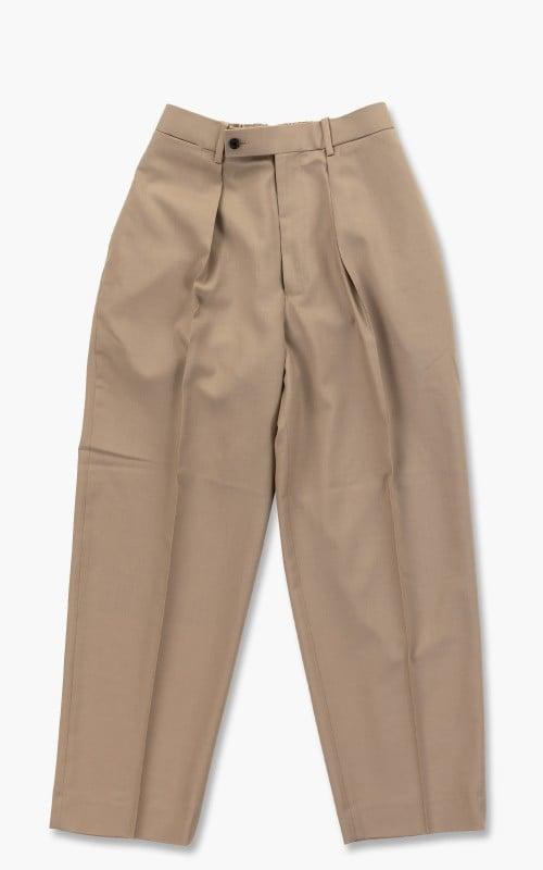 Markaware Organic Wool Tropical Classic Fit Trousers Beige