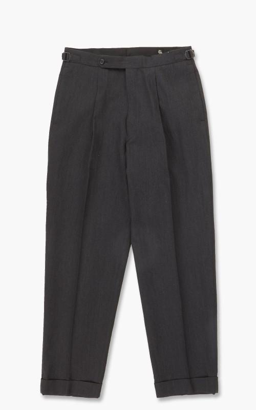 Kaptain Sunshine One Pleat Trousers Charcoal