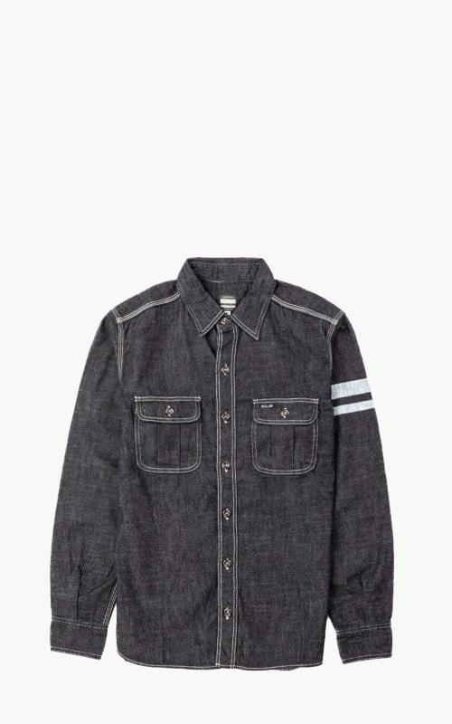 Momotaro Jeans SJ091D Selvedge Denim Work Shirt GTB