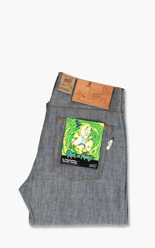 Naked & Famous Denim Weird Guy Mr. Poopy Butthole Ohh Wee Selvedge 9oz Indigo/Chambray