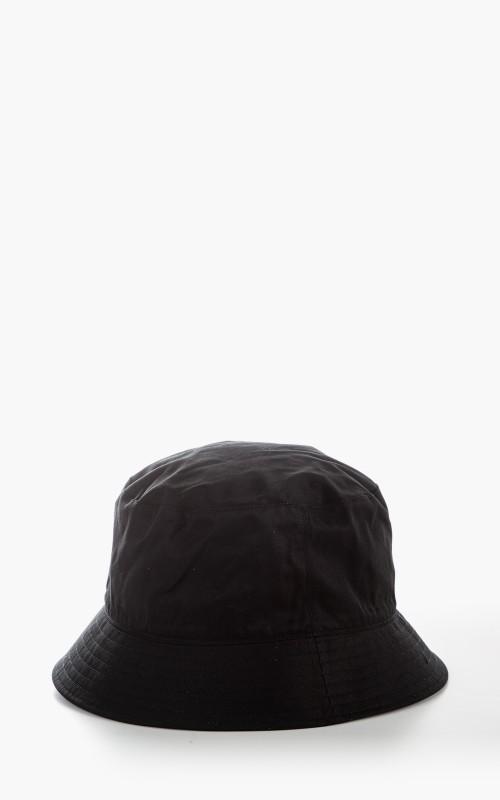 Kijima Takayuki No. 211108 Ventile Cotton Bucket Hat Black