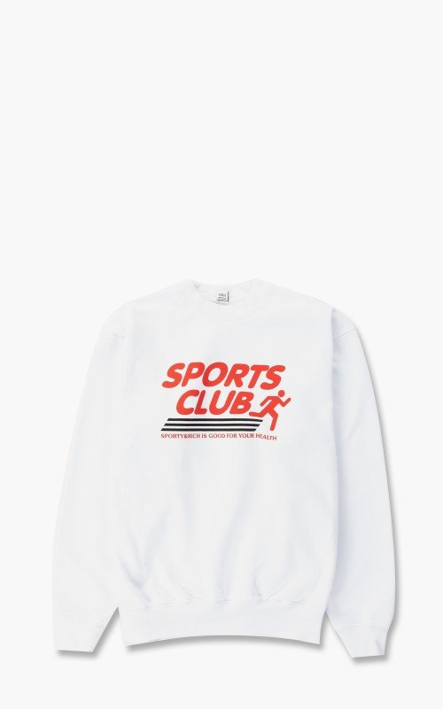 Sporty & Rich Sports Club Crewneck White