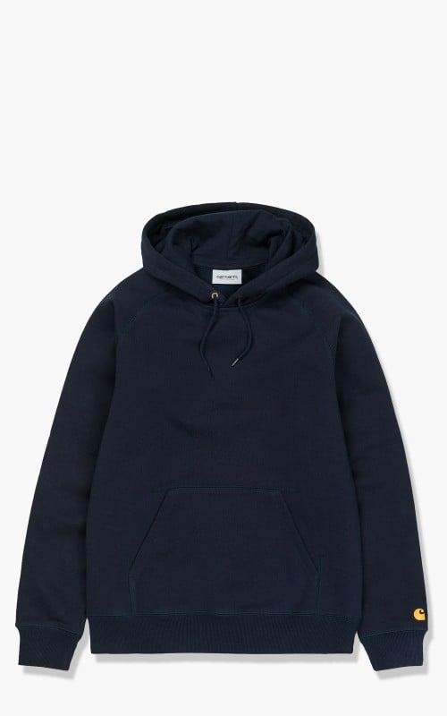 Carhartt WIP Hooded Chase Sweatshirt Dark Navy/Gold