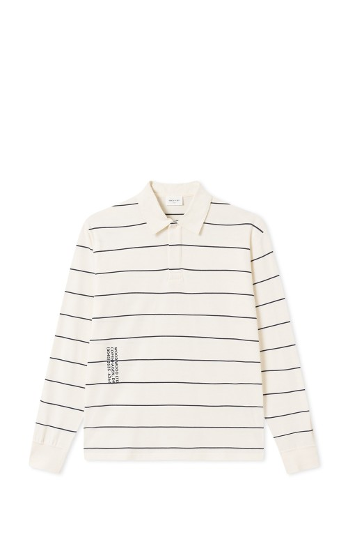 Wood Wood Beck Long Sleeve Offwhite Stripes