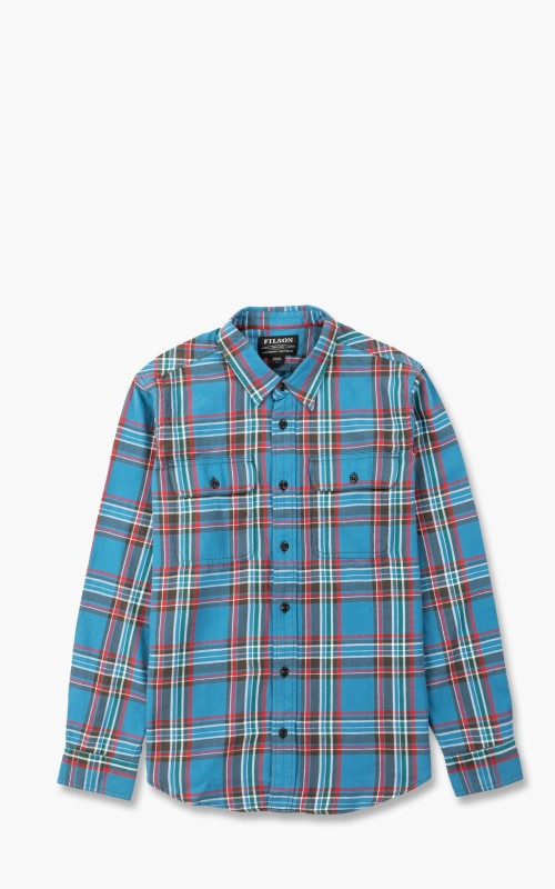 Filson Scout Shirt Blue/Gray/Red Plaid