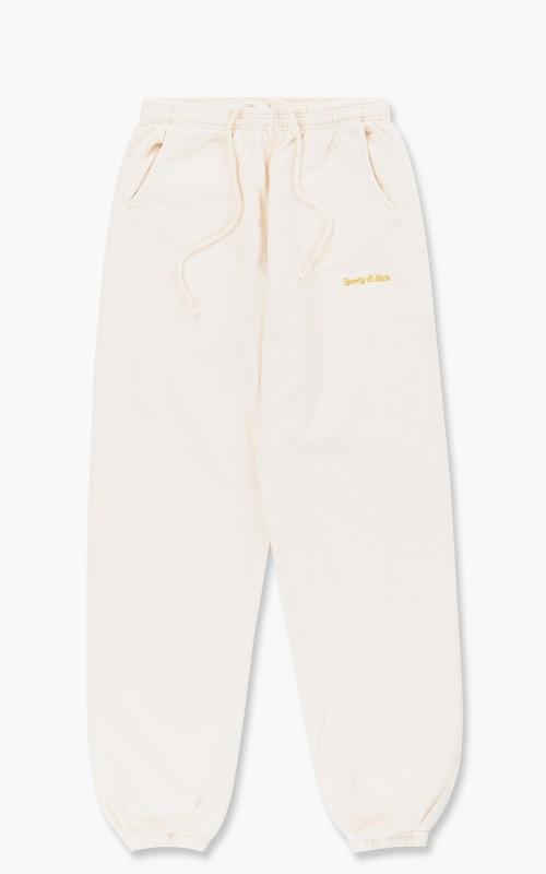 Sporty & Rich Classic Logo Sweat Pant Cream