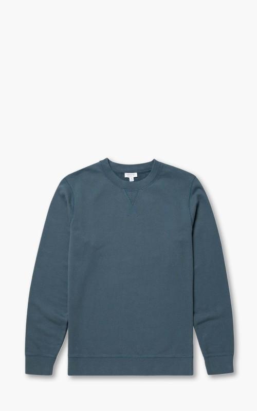 Sunspel Loopback Sweatshirt Dark Petrol