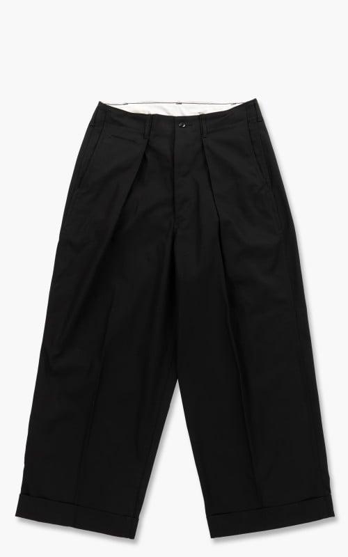 Markaware Organic Cotton Dry Twill 41 Khaki Wide Pants Black