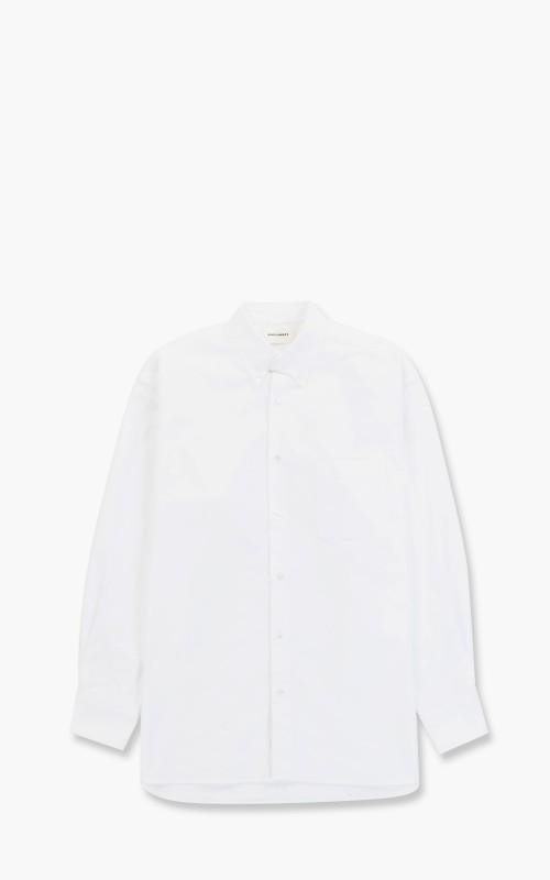 Markaware Confort Fit Polo Collar Shirt Organic Cotton Oxford White
