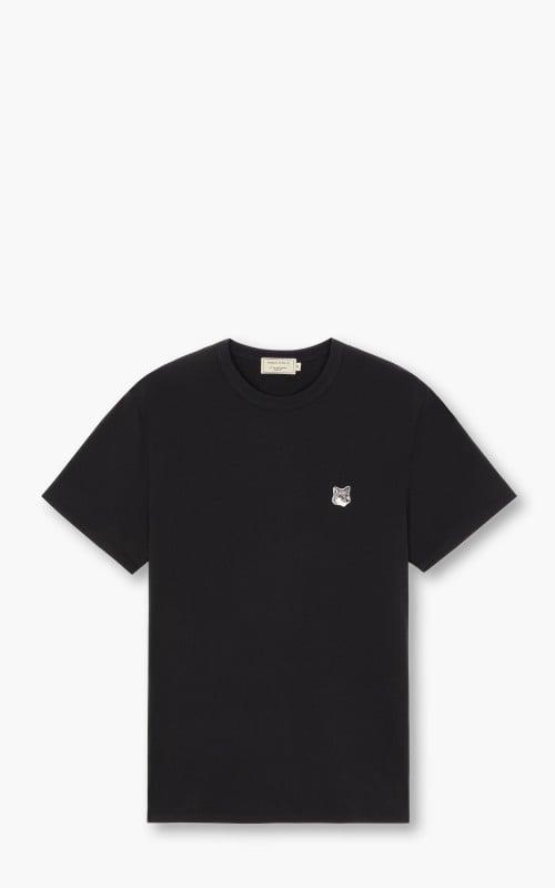 Maison Kitsuné Grey Fox Head Patch T-Shirt Black