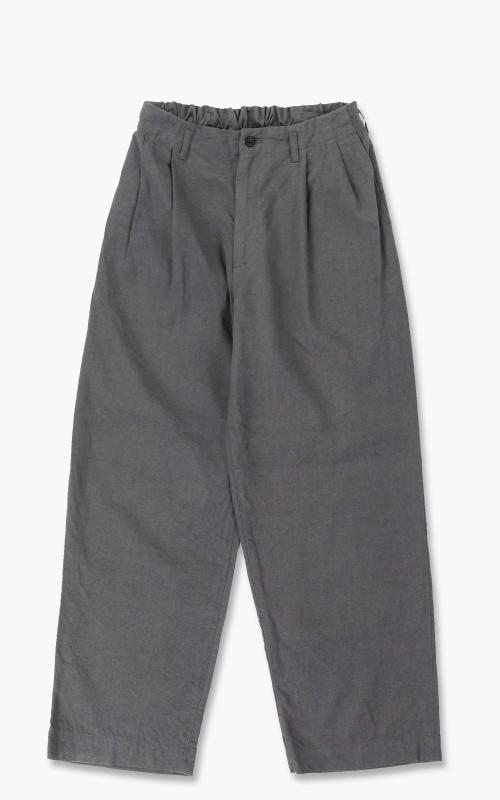 Markaware 'Marka' Silk Linen 2Tuck Straight Fit Easy Trousers Grey