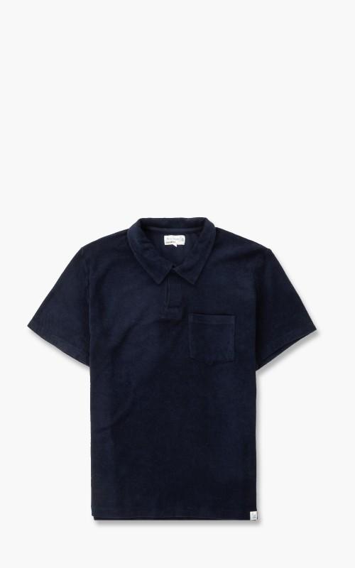 Merz b. Schwanen FTPLP01 Polo Shirt French Terry Deep Blue