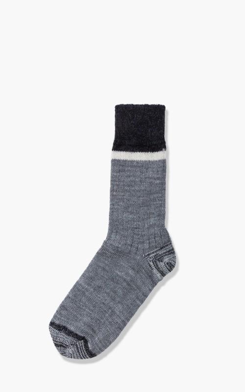 Merz b. Schwanen S73 Retro Sport Socks Greymelange/Nature