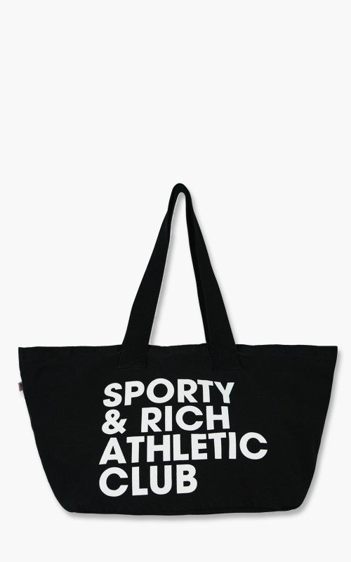 Sporty & Rich Exercise Often Tote Bag Black