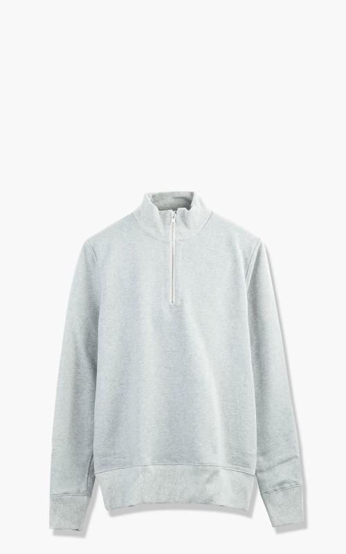 Merz b. Schwanen 343Z Sweatshirt Half Zip Mock Neck Greymelange