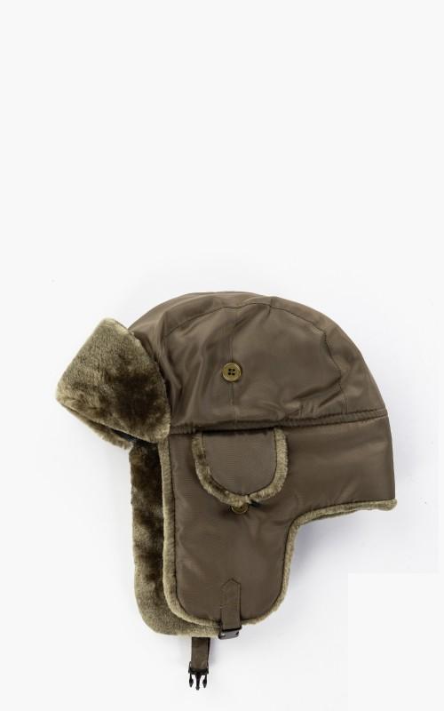Military Surplus Pilot Fur Hat MA1 Olive