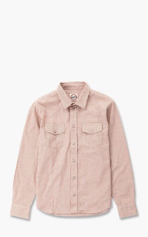 Eat Dust Western Shirt Liberty Stripe White/Red