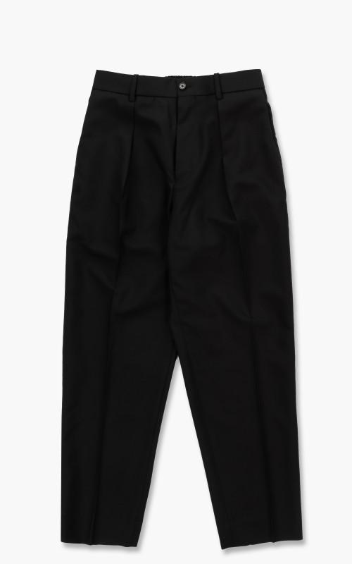 Markaware Organic Wool Tropical Pegtop Trousers Black