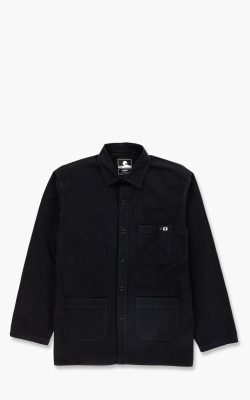 Edwin Major Shirt LS Rip Stop Black Garment Dyed