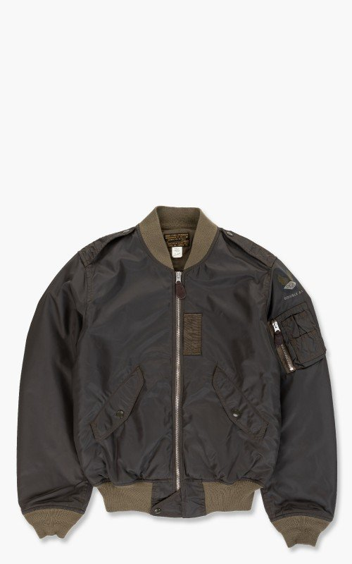 RRL Bordon Bomber Jacket Black/Olive