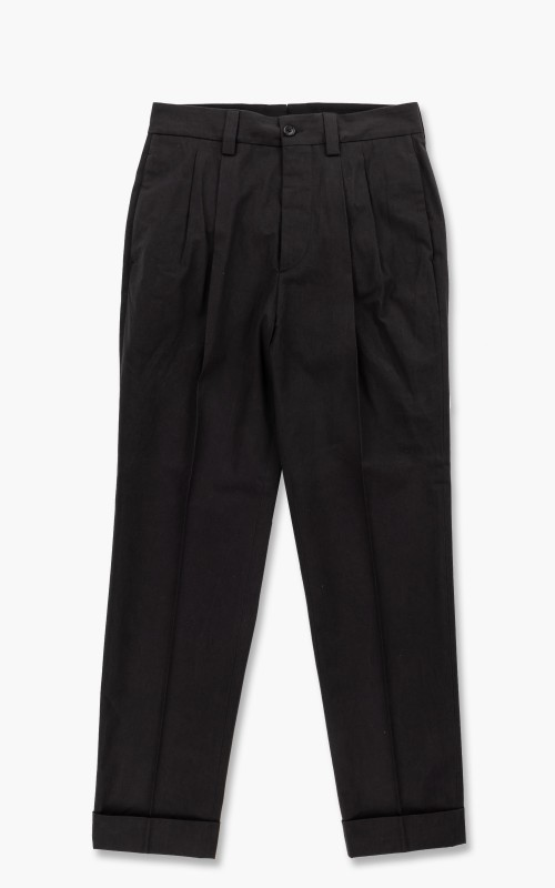Margaret Howell Tapered Trouser Dense Cotton Plainweave Dark Slate