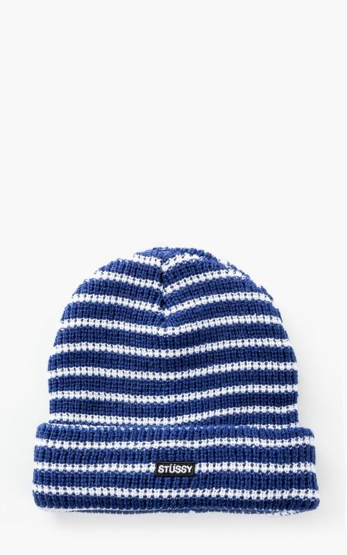 Stüssy Stripes Beanie Blue/White