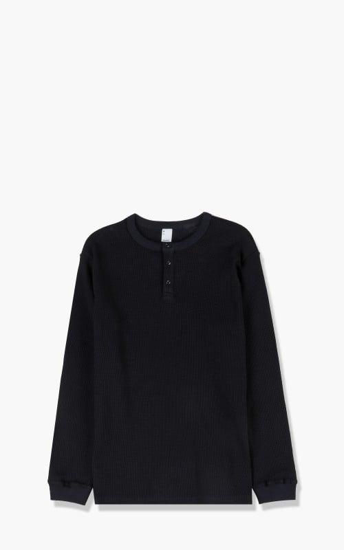 3sixteen Long Sleeve Thermal Henley Black LTH-Black