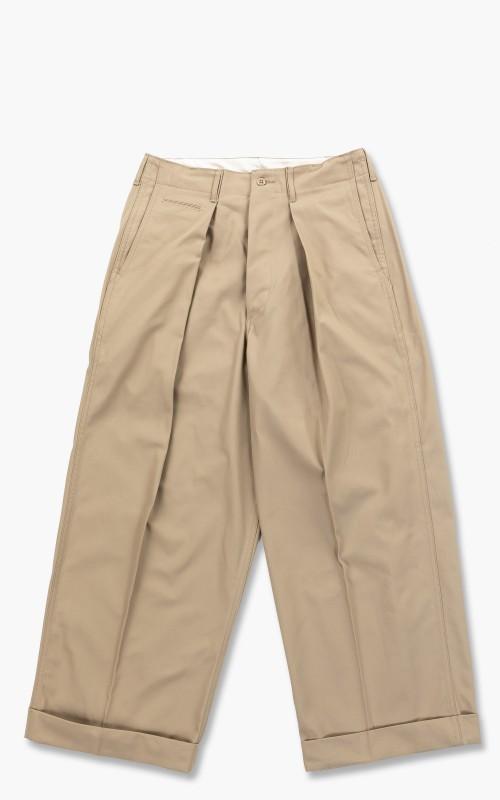 Markaware Organic Cotton Dry Twill 41 Khaki Wide Pants Khaki