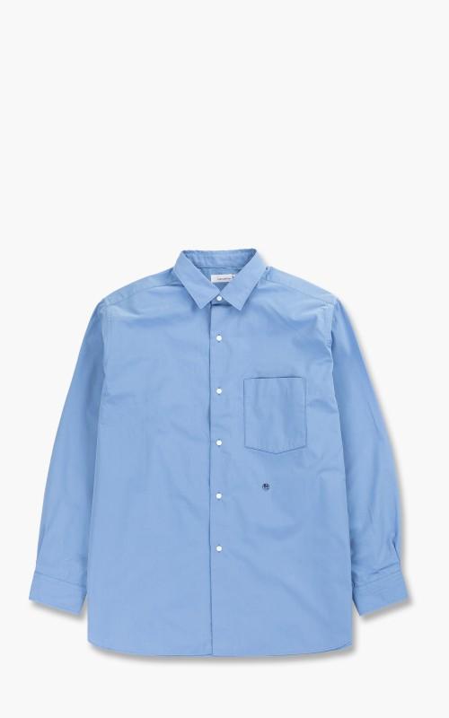 Nanamica Regular Collar Wind Shirt Sax Blue