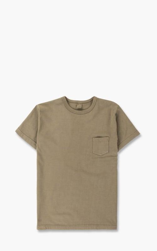 3sixteen Garment Dyed Pocket Tee Olive