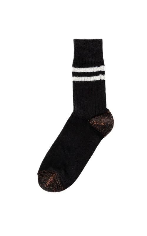 Merz b. Schwanen S75 Retro Sport Socks Black/Nature