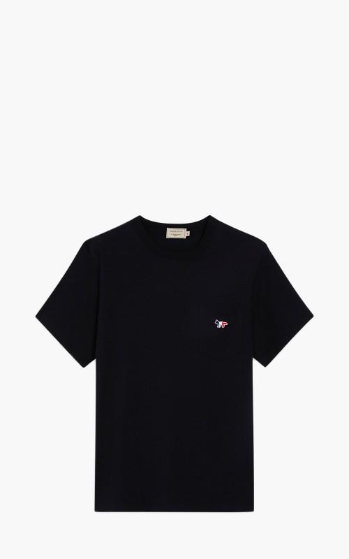 Maison Kitsuné Tricolor Fox Patch Pocket T-Shirt Black