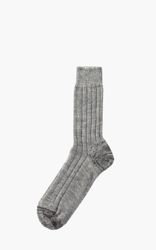 Merz b. Schwanen S72 New Wool Socks Grey/Nature