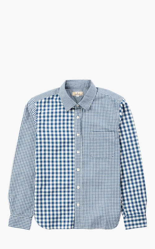 Japan Blue J353531 Crazy Gingham Shirt Indigo